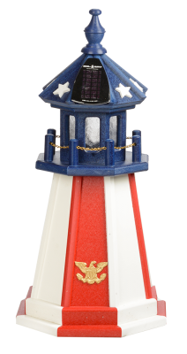 2' Patriotic Poly Lighthouse