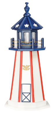 3' Patriotic Yard Lighthouse