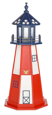 4' Patriotic Lighthouse (Poly) Cape Henry Style