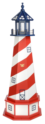 patriotic garden lighthouse