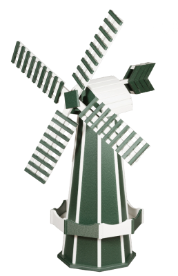 green poly garden windmill