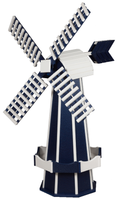 navy blue garden windmill