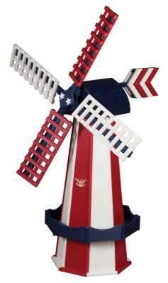 Patriotic poly garden windmill