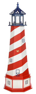 Patriotic Yard Lighthouse