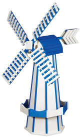 Decorative garden windmill made from maintenance free poly